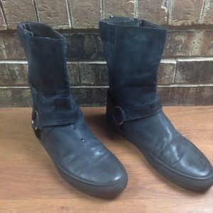 Rare Raf Simons Black Leather Biker Motocycle Boot